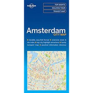 Lonely Planet Amsterdam City Map, Paperback