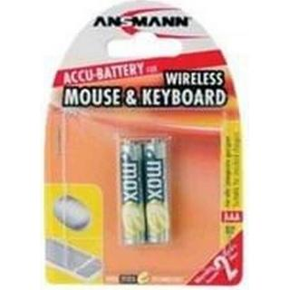 Ansmann Wireless NiMH Micro AAA 800mAh MaxE 2-pack