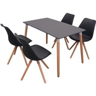 vidaXL 243556 Spisebordssæt Køkkenstol