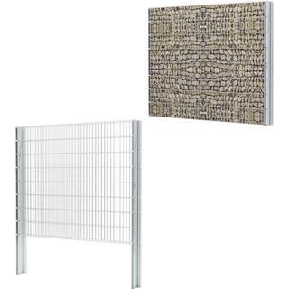 vidaXL 2D Gabion Fence Set 6mx163cm