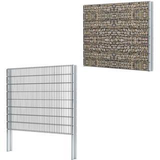 vidaXL 2D Gabion Fence Set 12mx163cm