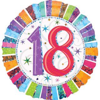 Amscan Foil Ballon Standard Radiant Birthday 18