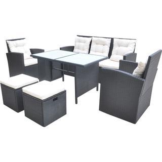 vidaXL 42643 Loungesæt, 1 borde inkl. 2 stole & 1 sofaer