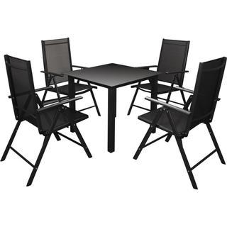 vidaXL 42767 Havemøbelsæt, 1 borde inkl. 4 stole