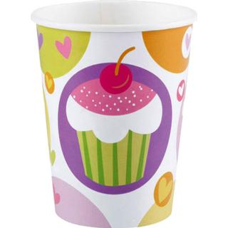 Amscan Paper Cup Cupcake 250ml 8-pack