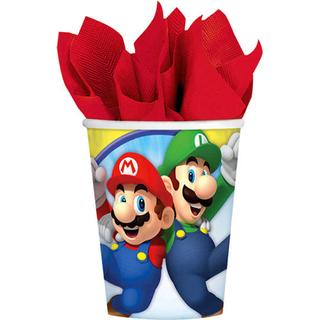 Amscan Paper Cup Super Mario 250ml 8-pack