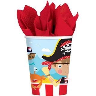 Amscan Paper Cup Little Pirate 266ml 8-pack