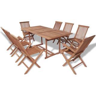 vidaXL 43042 Havemøbelsæt, 1 borde inkl. 8 stole