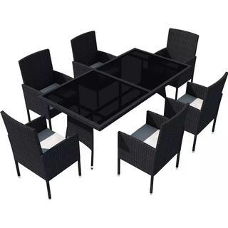 vidaXL 42537 Havemøbelsæt, 1 borde inkl. 6 stole