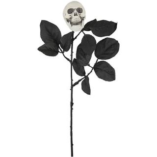 Decor Rose with Skull Black