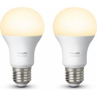 Philips Hue White LED Lamp 9.5W E27 2 Pack