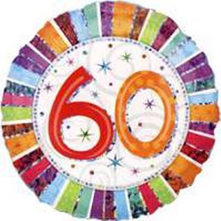 Amscan Foil Ballon Standard Radiant Birthday 60