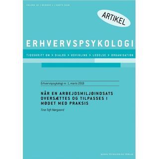 Når en arbejdsmiljøindsats oversættes og tilpasses i mødet med praksis, E-bog
