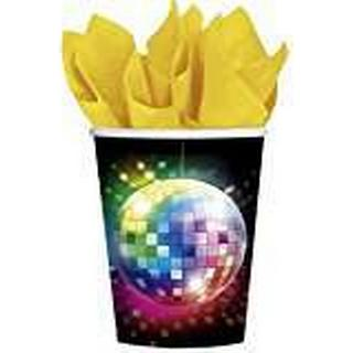 Amscan Paper Cup Disco Fever 70s 266ml 8-pack