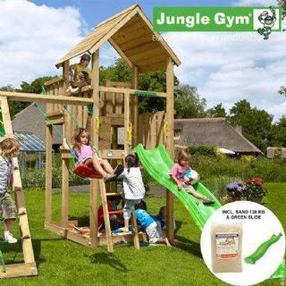 Jungle Gym Palace Playtower with Climb Module & 1 Swing