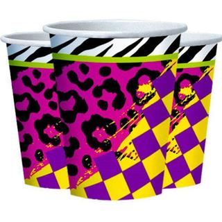 Amscan Paper Cup Totally 80's 266ml 8-pack
