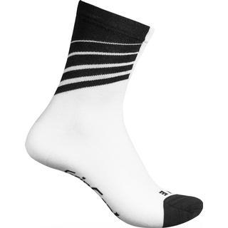 Gripgrab Racing Stripes Sock Unisex - White