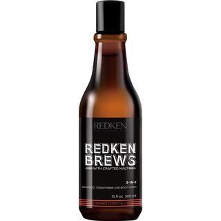 Redken Brews 3-In-1 Shampoo, Conditioner & Body Wash 300ml