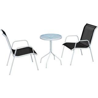 vidaXL 43314 Havemøbelsæt, 1 borde inkl. 2 stole