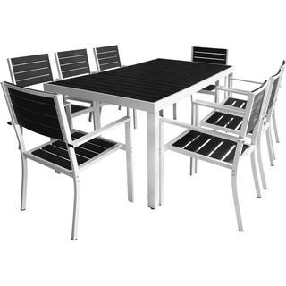 vidaXL 42813 Havemøbelsæt, 1 borde inkl. 8 stole