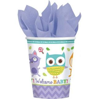Amscan Paper Cup Woodland Welcome 266ml 8-pack