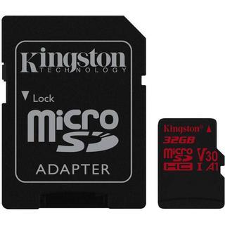 Kingston Canvas React microSDHC Class 10 UHS-I U3 V30 A1 100/80MB/s 32GB +Adapter