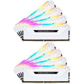 Corsair Vengeance RGB LED Pro White DDR4 3200MHz 8x16GB (CMW128GX4M8C3200C16W)