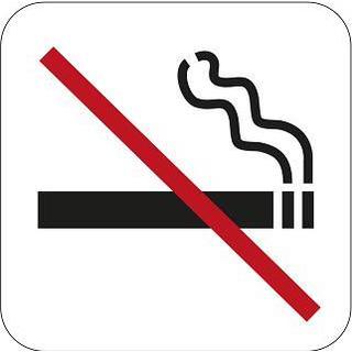 Habo Self Adhesive Vinyl Ban No Smoking
