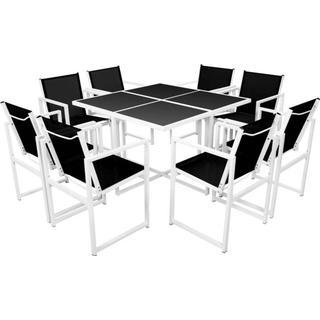 vidaXL 42800 Havemøbelsæt, 1 borde inkl. 8 stole