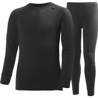 Helly Hansen Jr Lifa Merino Base Layer Set - Black (48659-990)