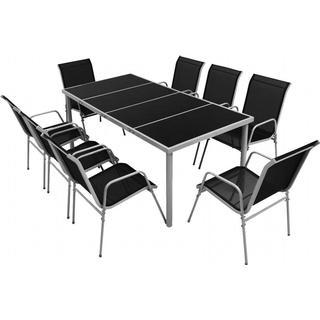 vidaXL 43306 Havemøbelsæt, 1 borde inkl. 8 stole