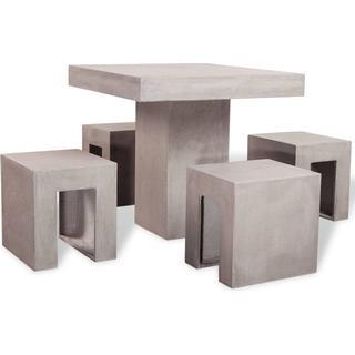 vidaXL 42390 Havemøbelsæt, 1 borde inkl. 4 stole