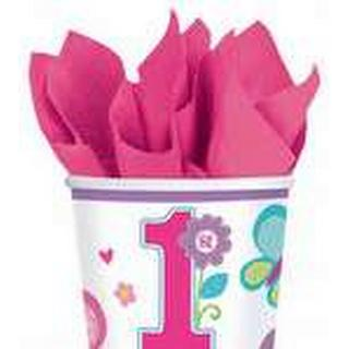 Amscan Paper Cup Sweet Birthday Girl 266ml 8-pack