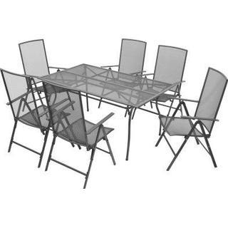 vidaXL 42719 Havemøbelsæt, 1 borde inkl. 6 stole