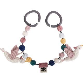 Sebra Crochet Pram Chain Singing Birds