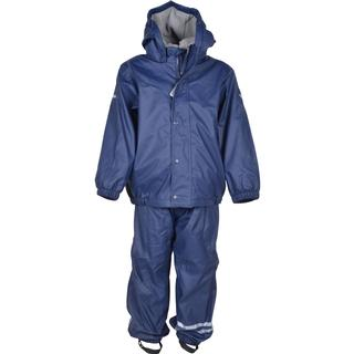 Mikk-Line PU Rainwear Set with Fleece - Dark Marine (33136-286)