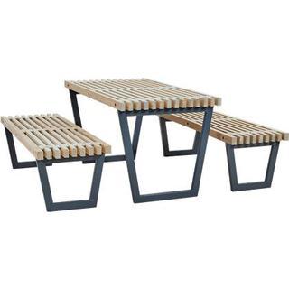 Plus Siesta Havemøbelsæt, 1 borde inkl. 2 sofaer