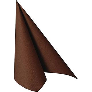 Papstar Napkins Royal Collection 1/4 Fold Brown 20-pack