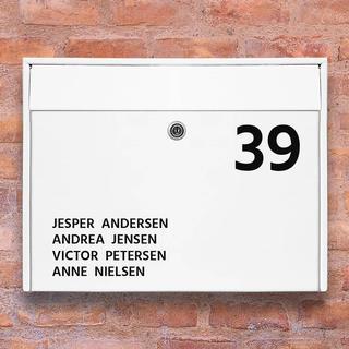 #1 Navneskilt postkasse stickers
