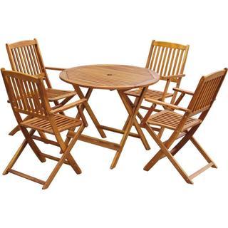 vidaXL 43380 Havemøbelsæt, 1 borde inkl. 4 stole