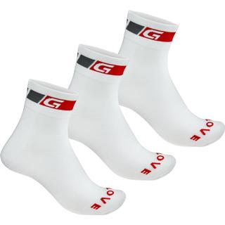 Gripgrab Classic Regular Cut 3-Pack Sock Unisex - White
