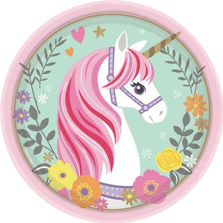 Amscan Plates Magical Unicorn Round 8-pack