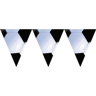 Amscan Garlands Pennant Banner Championship Soccer White/Black