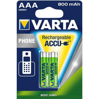 Varta AAA Accu Rechargeable Phone 800mAh 2-pack