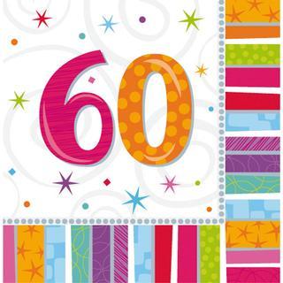 Amscan Napkins Radiant Birthday 60 16-pack