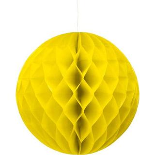 Party Deco Hanging Ball Yellow