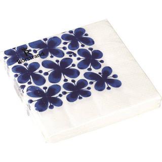 Napkins Mon Amie White/Blue 20-pack