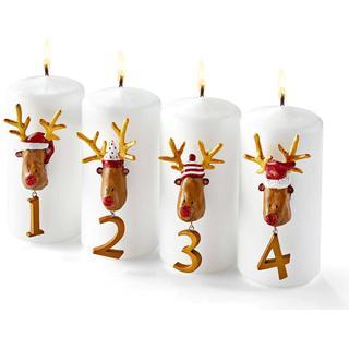 Medusa Copenhagen Rudolf Advent 5.5cm 4-pack Julepynt Tilbehør lysestage