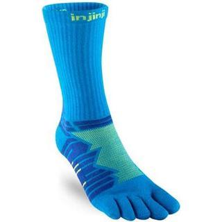 injinji Ultra Run Crew Socks Unisex - Lime