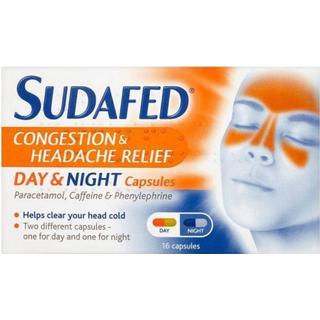 Sudafed Congestion & Headache Relief Day & Night 16stk